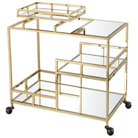 Repertoire Gold Plated and Clear Bar Cart