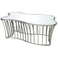 Drink Me 45 X 26 inch Silver Leaf and Clear Mirror Coffee Table