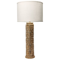 Fluer De Lis 31 inch 150 watt Aged Stone Table Lamp Portable Light