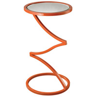 Zig-Zag 12 X 12 inch Orange and Mirror End Table Home Decor