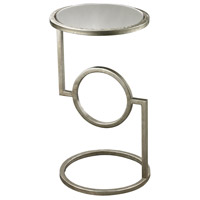 Hurricane 12 X 12 inch Antique Silver and Mirror Side Table Home Decor, Mirrored Top