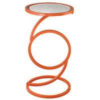 Eye 22 X 12 inch Orange and Mirror End Table