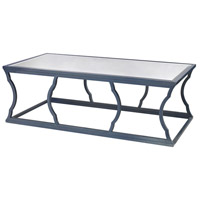 Cloud 60 X 30 inch Navy Blue and Mirror Coffee Table