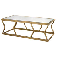 Cloud 60 X 30 inch Antique Gold Leaf and Mirror Coffee Table Home Decor