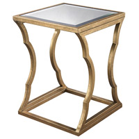 Cloud 24 X 18 inch Antique Gold Leaf and Mirror Side Table