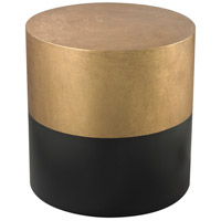 Draper 16 X 16 inch Antique Gold and Black Side Table