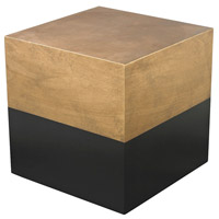 Draper 16 X 16 inch Antique Gold and Black Cube Table Home Decor