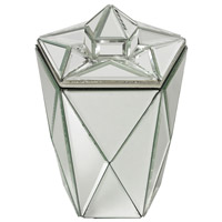 Jewel 6 X 6 inch Mirror Jewelry Canister
