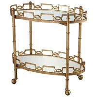 Dimond Home 114-136 Curvilinear 32 X 32 inch Antique Gold Leaf and Antique Mirror Tray Table, 2-Tier thumb