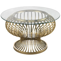 Undulating 32 X 32 inch Gold Plated Coffee Table Home Decor