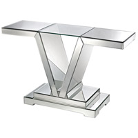 Dimond Home 114174 Signature 48 X 15 inch Mirrored Console Table, Glass Top