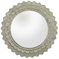 Antique Sunflower 39 X 39 inch Antique Silver Mirror and Clear Wall Mirror Home Decor