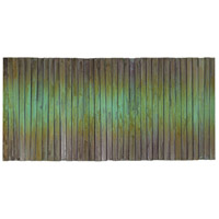 Metal Wave Oxidized Copper Wall Art