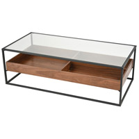 Rubric 47 X 24 inch Black and Walnut Coffee Table