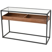 Rubric 47 X 16 inch Black and Walnut Console Table