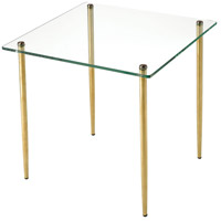 On Point 18 inch Gold Accent Table, Square