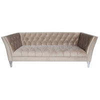 Coquette Navy Velvet with Silver Sofa Home Decor