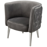 Dimond Home 1204-083 Black Pudding Grey Velvet Chair thumb