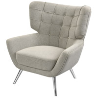 Dimond Home 1204-102 Determinative Grey Linen and Silver Chair
