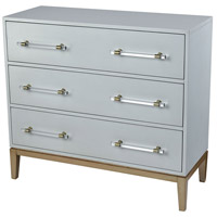 Girl Friday Light Grey and Gold with Clear Acrylic Cabinet