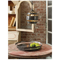 Dimond Home 135008 Fortress 1 Light 9 inch Distressed Silver Pendant Ceiling Light, Round 135008_rm2.jpg thumb