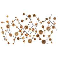 Vibrant Alignment Nickel and Burnished Tones Wall Decor