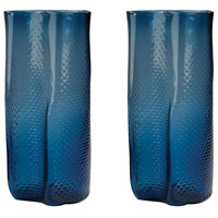 Dimond Home 154-014/S2 Etched 14 X 6 inch Vase in Navy Blue