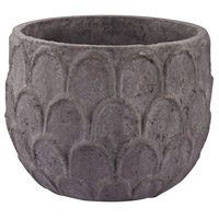 Lotus Dark Grey Stone Pot, Small