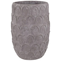 Lotus Dark Grey Stone Pot, Large