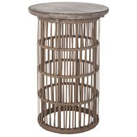 Refuge 16 X 16 inch Dark Grey Wax and Woodtone Side Table Home Decor