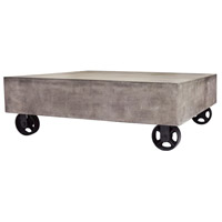 Jigger 39 X 39 inch Waxed Concrete and Rust Coffee Table