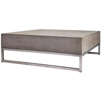 Dimond Home 157-027 Bulwark 34 X 34 inch Waxed Concrete and Stainless Steel Coffee Table thumb