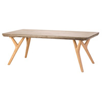 Dimond Home 157-037 Twigs 47 X 23 inch Concrete,Natural Oak Woodtone Coffee Table