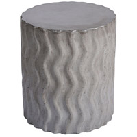 Wave 18 inch Polished Concrete Outdoor Stool