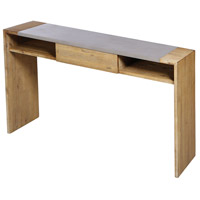 Tara 55 X 14 inch Polished Concrete/Blonde Acacia Console Table