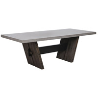 Hoss 86 X 39 inch Heritage Oak and Polished Concrete Dining Table