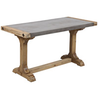 Kingdom Atlantic Brush and Polished Concrete Outdoor Console Desk, Pirate