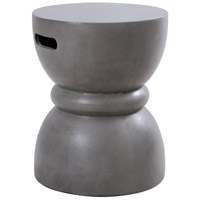 Mercia 18 inch Polished Concrete Outdoor Stool