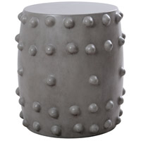 Thracian 18 inch Polished Concrete Outdoor Stool