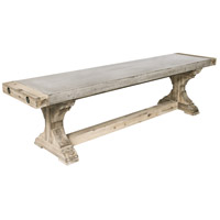 Pirate Brushed Atlantic with Polished Concrete Dining Bench