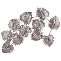 Leaf Metallic Silver Wall Decor