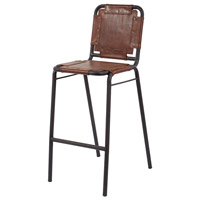 Industrial 42 inch Tobacco and Black Iron Bar Stool