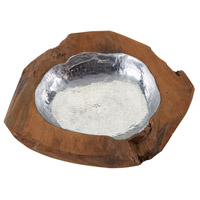 Signature Natural Teak and Aluminum Bowl