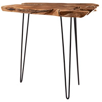 Signature Natural Teak and Iron Bar Table