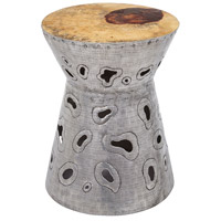 Dimond Home 162-024 Amoeba 18 inch Natural Teak and Aluminum Stool thumb