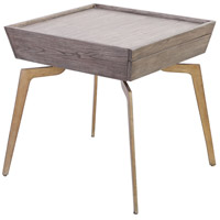 Dimond Home 164-002 Larocca 24 X 24 inch Soft Gold and Grey Birch Veneer Accent Table