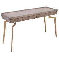 Larocca 52 X 18 inch Soft Gold and Grey Birch Veneer Console Table