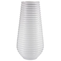 Dimond Home 166-007 Ribbed Gloss White Planter