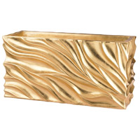 Dimond Home 166-012 Swirl Gold Leaf Table Planter