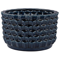 Dimond Home 167-005 Accordion Crackled Navy Blue Pot thumb